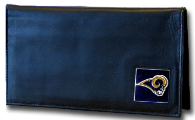 St Louis Rams Leather Checkbook Cover (F)