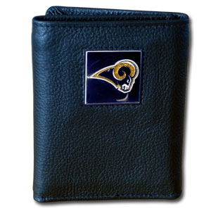 St Louis Rams Leather Trifold Wallet (F)