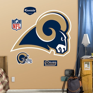St. Louis Rams Logo Fathead Wall Graphic