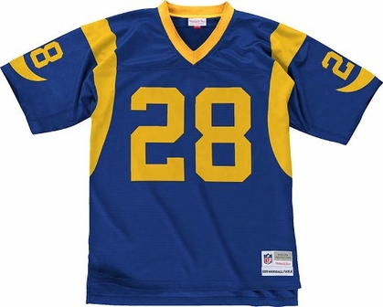 St. Louis Rams Marshall Faulk NFL Mitchell & Ness Premier Jersey - Blue