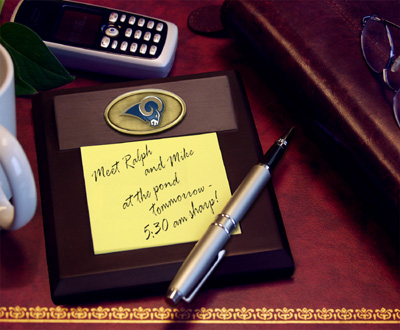 St Louis Rams Memo Pad Holder