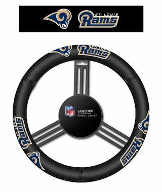 St. Louis Rams Leather Steering Wheel Cover