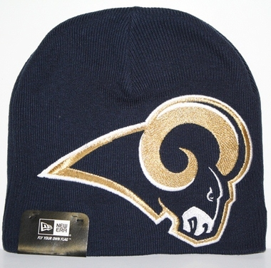 Los Angeles Rams New Era Big One Too Cuffless Knit Hat