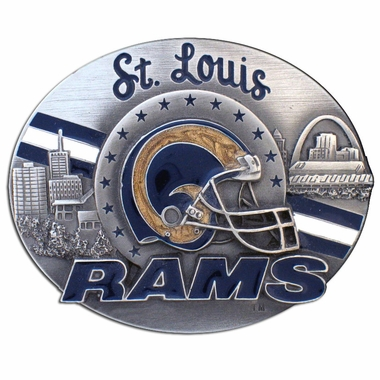 St Louis Rams Enameled Belt Buckle