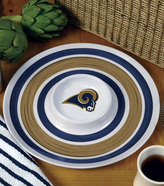 St Louis Rams Plastic Chip and Dip Plate