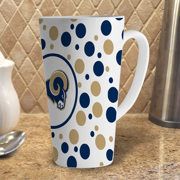 St Louis Rams Polkadot 16 oz. Ceramic Latte Mug