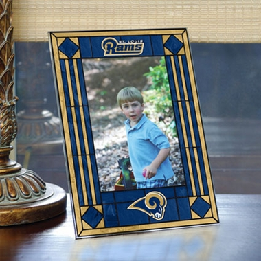 St Louis Rams Portrait Art Glass Picture Frame
