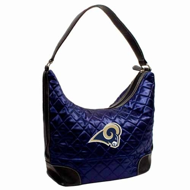 St Louis Rams Quilted Hobo Purse