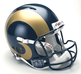 St Louis Rams Riddell Full Size Authentic Revolution Helmet