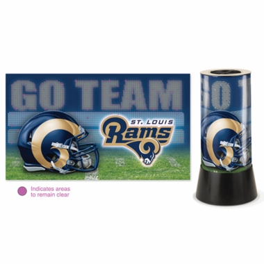 St Louis Rams Rotating Lamp
