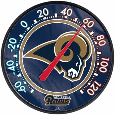 St Louis Rams Round Wall Thermometer