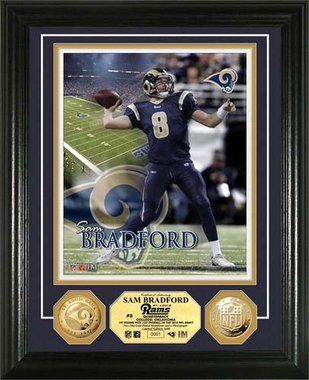 St. Louis Rams Sam Bradford 24KT Gold Coin Photo Mint
