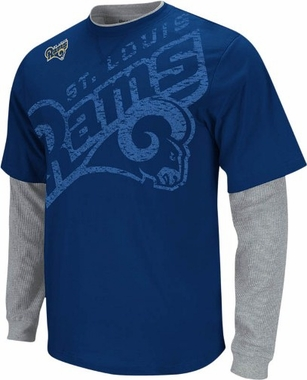 St Louis Rams Scrimmage Layered Thermal Shirt