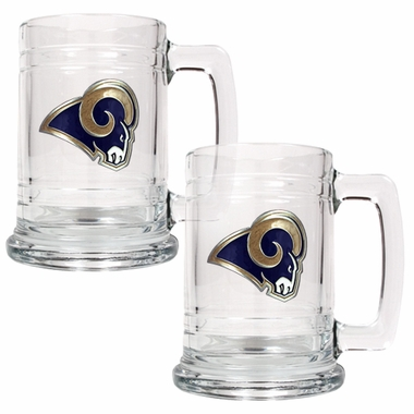 St Louis Rams Set of 2 15 oz. Tankards