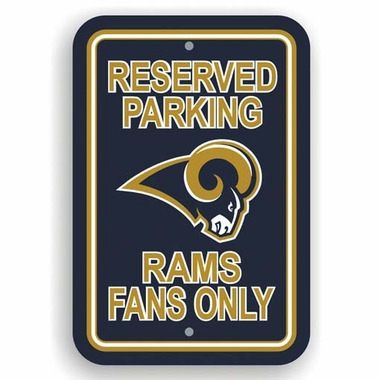 St Louis Rams Plastic Reserved Parking Sign (P)