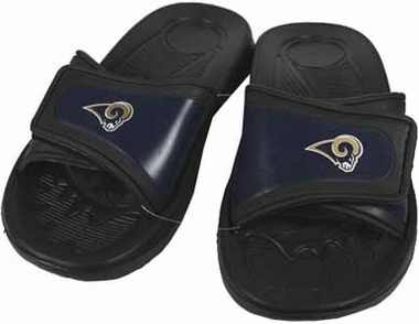 St Louis Rams Shower Slide Flip Flop Sandals - Small