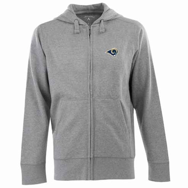 St Louis Rams Mens Signature Full Zip Hooded Sweatshirt (Color: Gray)