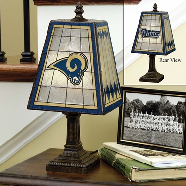 Los Angeles Rams Small Art Glass Lamp