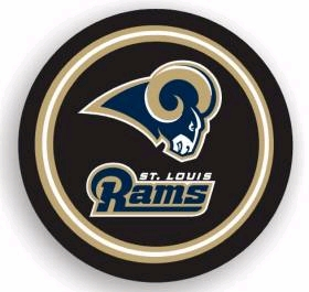 St. Louis Rams Black Tire Cover - Standard Size