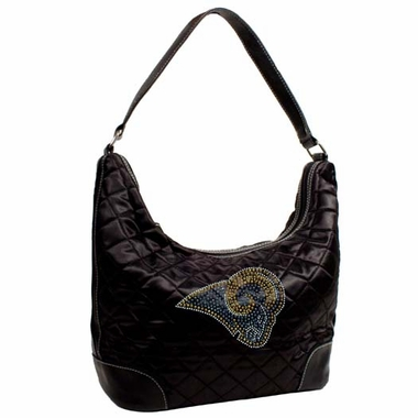 Los Angeles Rams Sport Noir Quilted Hobo