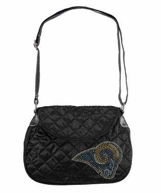 St Louis Rams Sport Noir Quilted Saddlebag