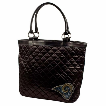 St Louis Rams Sport Noir Quilted Tote