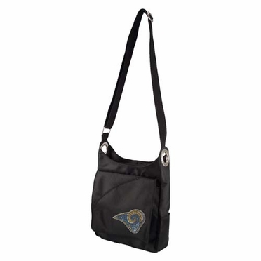 St Louis Rams Sport Noir Sheen Crossbody Bag