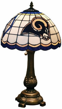 St Louis Rams Stained Glass Table Lamp