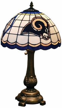 Los Angeles Rams Stained Glass Table Lamp