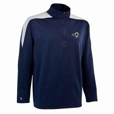 St Louis Rams Mens Succeed 1/4 Zip Performance Pullover (Team Color: Navy)