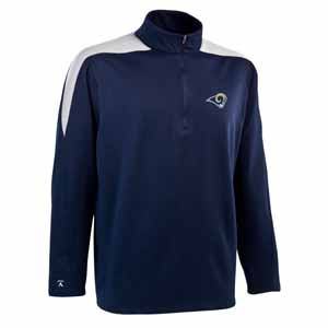 St Louis Rams Mens Succeed 1/4 Zip Performance Pullover (Team Color: Navy) - Large