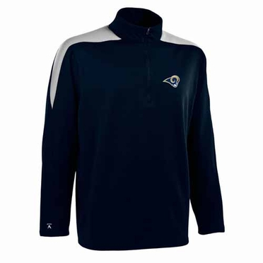St Louis Rams Mens Succeed 1/4 Zip Performance Pullover (Color: Smoke)