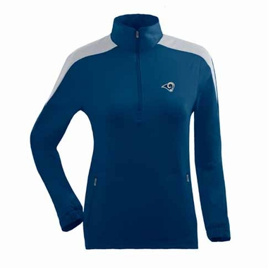 St Louis Rams Womens Succeed 1/4 Zip Performance Pullover (Team Color: Navy)