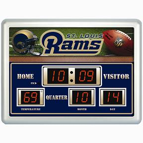 St Louis Rams Time / Date / Temp. Scoreboard