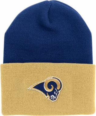 Los Angeles Rams (Two-Tone) Logo Knit Ski Cap