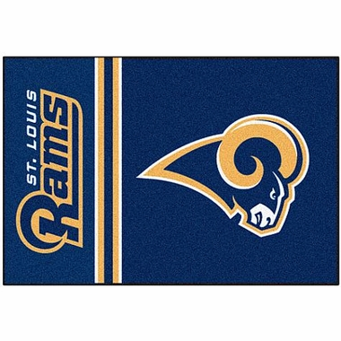 St Louis Rams Uniform Inspired 20 x 30 Rug