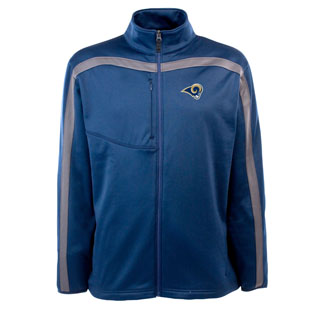 St Louis Rams Mens Viper Full Zip Performance Jacket (Team Color: Navy)