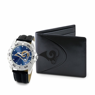 Los Angeles Rams Watch and Wallet Gift Set