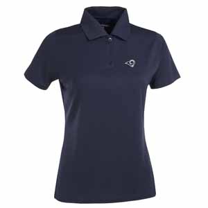 St Louis Rams Womens Exceed Polo (Team Color: Navy) - Large