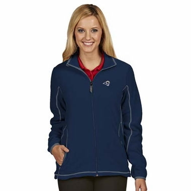 Los Angeles Rams Womens Ice Polar Fleece Jacket (Color: Navy)