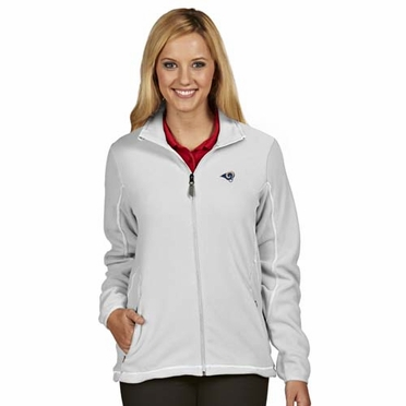 St Louis Rams Womens Ice Polar Fleece Jacket (Color: White)