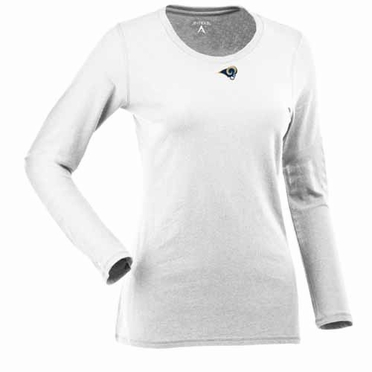 St Louis Rams Womens Relax Long Sleeve Tee (Color: White)