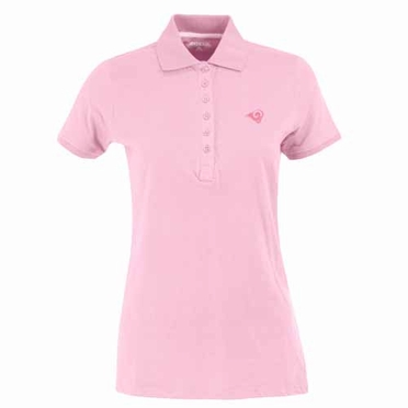 St Louis Rams Womens Spark Polo (Color: Pink)