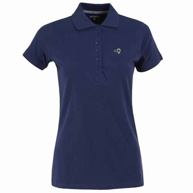 St Louis Rams Womens Spark Polo (Team Color: Navy)