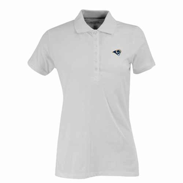 St Louis Rams Womens Spark Polo (Color: White)