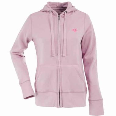 St Louis Rams Womens Zip Front Hoody Sweatshirt (Color: Pink)
