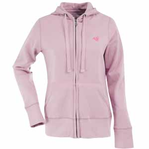 St Louis Rams Womens Zip Front Hoody Sweatshirt (Color: Pink) - Large