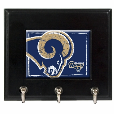 St Louis Rams Wooden Keyhook Rack