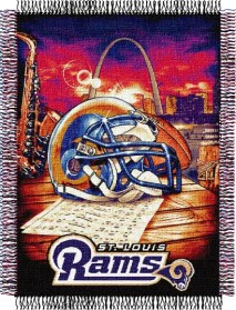 St Louis Rams Woven Tapestry Throw Blanket