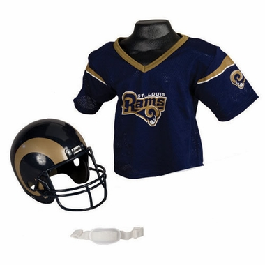 St Louis Rams Youth Helmet and Jersey Set